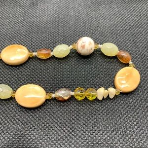 Jewelry - Mixed Natural Gemstone and Glass Bead Necklace